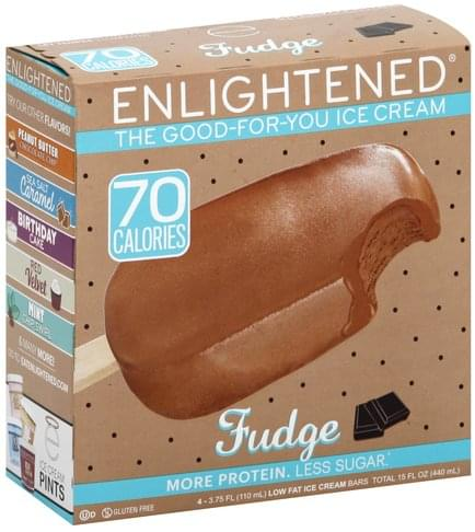 Enlightened Low Fat, Fudge Ice Cream Bars - 4 ea