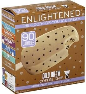 Enlightened Ice Cream Bar Cold Brew Coffee Chip, Low Fat