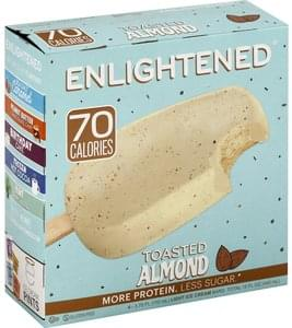 Enlightened Ice Cream Bar Toasted Almond, Light