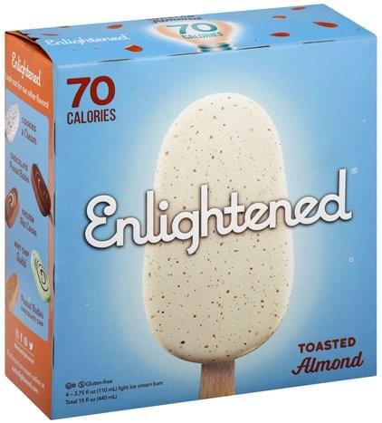 Enlightened Light, Toasted Almond Ice Cream Bars - 4 ea
