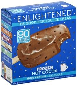 Enlightened Ice Cream Bars Low Fat, Frozen Hot Cocoa