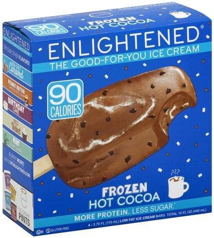 Enlightened Low Fat, Frozen Hot Cocoa Ice Cream Bars - 4 ea