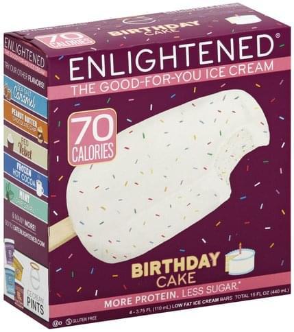 Astonishing Enlightened Low Fat Birthday Cake Ice Cream Bars 4 Ea Birthday Cards Printable Benkemecafe Filternl