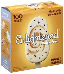 Enlightened Dessert Bars Dairy-Free, Monkey Business, Frozen