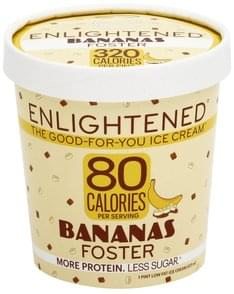 Enlightened Ice Cream Low Fat, Bananas Foster