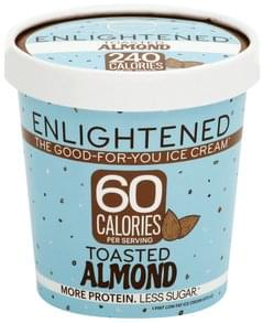Enlightened Ice Cream Low Fat, Toasted Almond