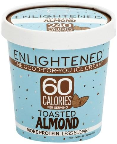 Enlightened Low Fat, Toasted Almond Ice Cream - 1 pt