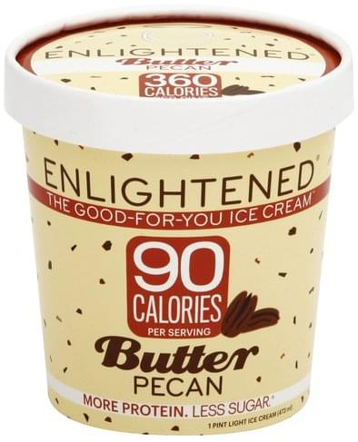 Enlightened Light, Butter Pecan Ice Cream - 1 pt