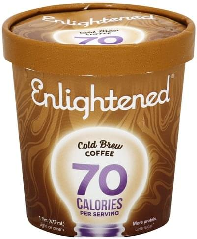 Enlightened Light, Cold Brew Coffee Ice Cream - 1 pt