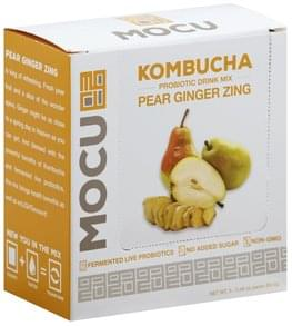 Mocu Probiotic Drink Mix Kombucha, Pear Ginger Zing