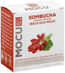 Mocu Probiotic Drink Mix Kombucha, Maca Goji Mojo