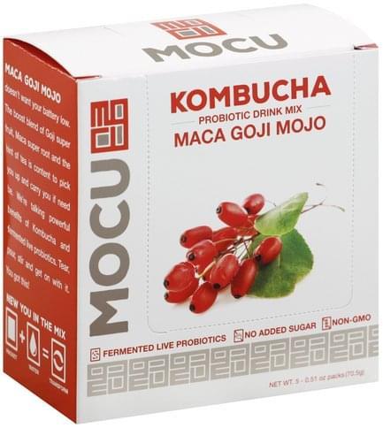 Mocu Kombucha, Maca Goji Mojo Probiotic Drink Mix - 5 ea