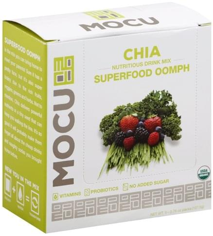 Mocu Chia, Superfood Oomph Nutritious Drink Mix - 5 ea