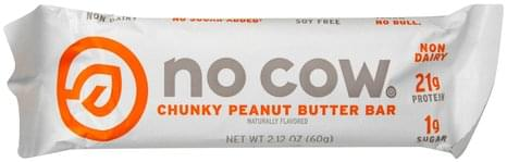No Cow Bar, Chunky Peanut Butter Peanut Butter Bar - 2.12 oz