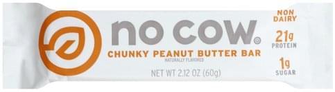 No Cow Chunky Peanut Butter Bar - 2.12 oz