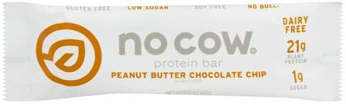 No Cow Peanut Butter Chocolate Chip Protein Bar - 2.12 oz