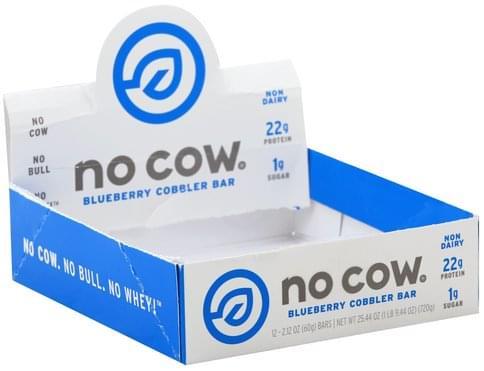 No Cow Blueberry Cobbler Bar - 12 ea