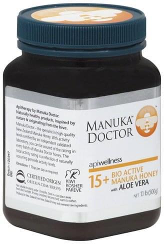Manuka Doctor with Aloe Vera, 15+ Bio Active Manuka Honey