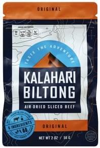 Kalahari Biltong Beef Air-Dried, Original, Sliced