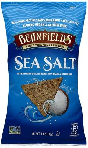 Beanfields Sea Salt Bean & Rice Chips - 6 oz