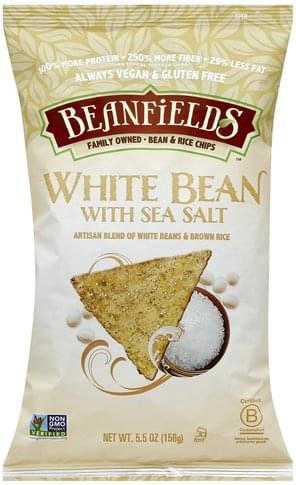Beanfields White Bean with Sea Salt Bean & Rice Chips - 5.5 oz