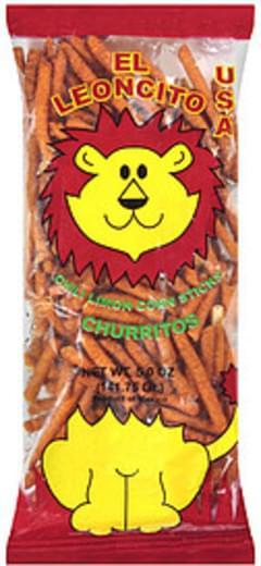 El Leoncito Usa Churritos Chili Limon Corn Sticks
