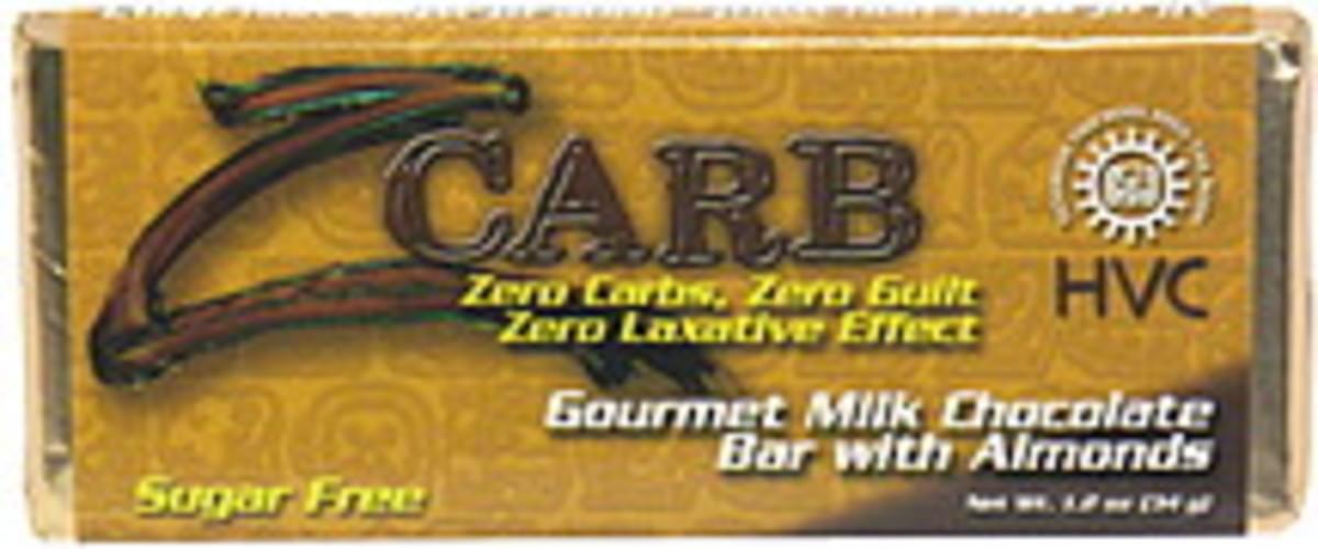 HVC Gourmet Milk Chocolate Bar with Almonds - 1.2 oz