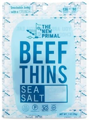 The New Primal Beef Thins, Sea Salt - 1 oz