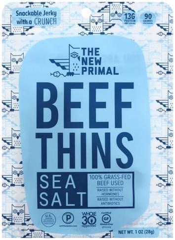 New Primal Sea Salt Beef Thins - 1 oz