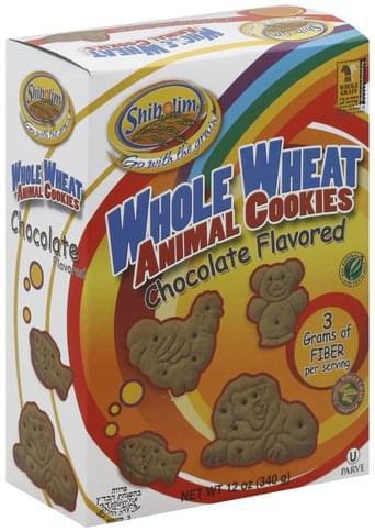 Shibolim Whole Wheat, Chocolate Flavored Animal Cookies - 12 oz