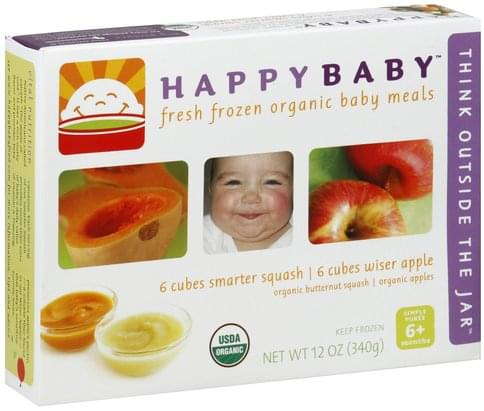 Happy Baby Simple Puree 6+ Months Baby Meals - 12 oz