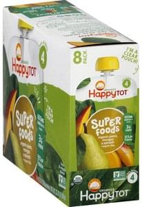 Happy Tot Fruit & Veggie Blend Pears, Mangos & Spinach, 8 Pack