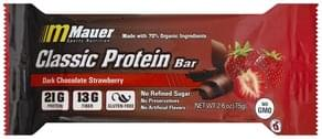 Mauer Sports Nutrition Protein Bar Classic, Dark Chocolate Strawberry