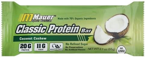 Mauer Sports Nutrition Classic, Coconut Cashew Protein Bar - 2.1 oz