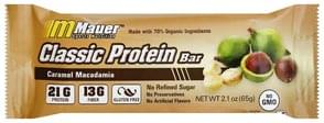 Mauer Sports Nutrition Protein Bar Classic, Caramel Macadamia