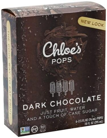 Chloes Dark Chocolate Pops - 4 ea