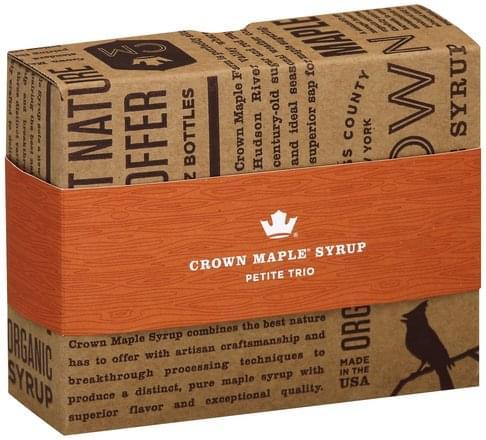 Crown Maple Petite Trio Maple Syrup - 3 ea