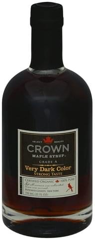 Crown Maple Very Dark Color Maple Syrup - 25 oz