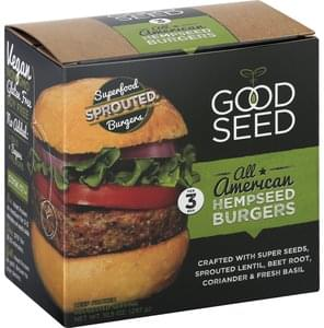 Good Seed Burgers Hempseed, All American, Sprouted