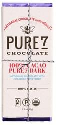 Pure7 Dark Chocolate Bar - 100% Cacao