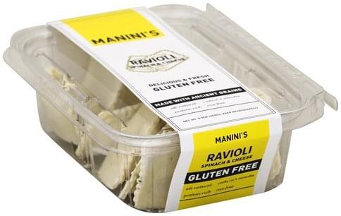 Maninis Gluten Free, Spinach & Cheese Ravioli - 9.5 oz