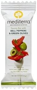 Mediterra Savory Bar with Bell Peppers & Green Olives