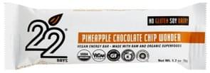22 Days Energy Bar Vegan, Pineapple Chocolate Chip Wonder