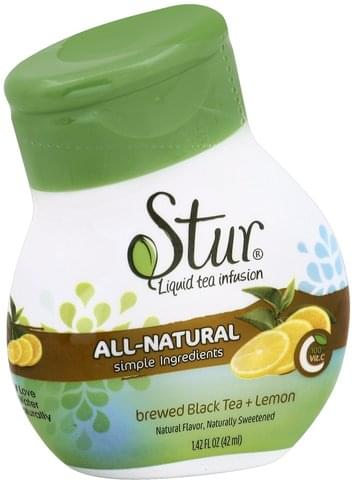 Stur Brewed Black Tea + Lemon Liquid Water Enhancer - 1.42 oz