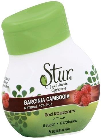 Stur Natural, 50% HCA, Red Raspberry Garcinia Cambogia - 24 ea