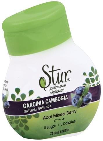 Stur Natural, 50% HCA, Acai Mixed Berry Garcinia Cambogia - 24 ea