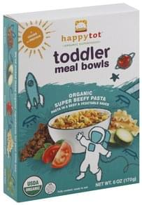 Happy Tot Meal Bowls Toddler, Organic Super Beefy Pasta