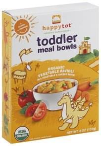 Happy Tot Meal Bowls Toddler, Organic Vegetable Ravioli