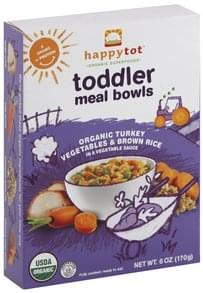 Happy Tot Meal Bowls Toddler, Organic Turkey Vegetables & Brown Rice