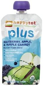 Happy Tot Fruit and Veggie Blend Blueberry, Apple, & Purple Carrot